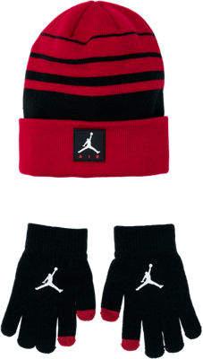 7fff34447435f6 switzerland nike kids jordan air knit beanie hat and glove set e931f 90a28