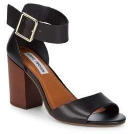 Steve Madden Estoriaa Leather Block-Heels