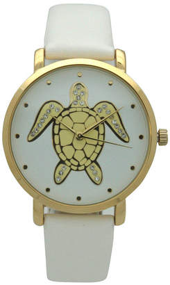 OLIVIA PRATT Olivia Pratt Pop Sea Turtle Womens White Strap Watch-A917404white