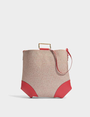 Carven Oversize Tote Bag with Metal in Espelette Cotton