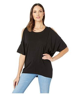 Nally & Millie Over Size Cold Shoulder Tunic