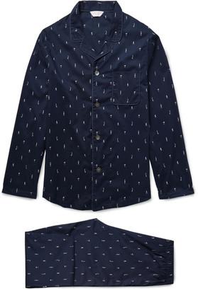 Derek Rose Nelson Printed Cotton Pyjama Set $355 thestylecure.com