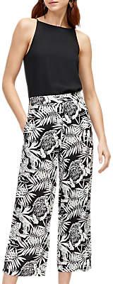 Warehouse Sahara Print Culottes, Black Pattern