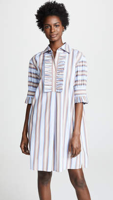 Tory Burch Ruffle Front Shirtdress
