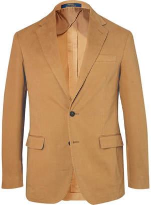 Polo Ralph Lauren Tan Slim-Fit Unstructured Stretch-Cotton Twill Blazer