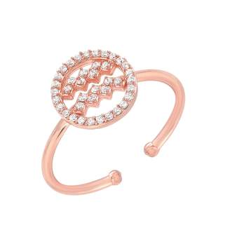 Mini Mini Jewels Halo Zodiac Sign Diamond Ring