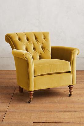Anthropologie Velvet Gwinnette Chair Shopstyle Furniture