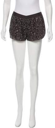 Rebecca Taylor Embellished Mini Shorts