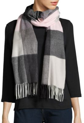 Lord & Taylor Fringed Plaid Blacket Wrap $58 thestylecure.com