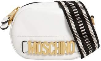 Moschino Shiny Leather Bag W/ Webbing Strap