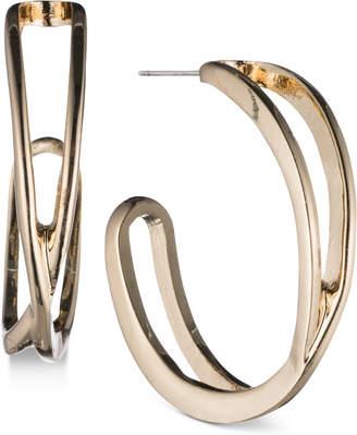 Nine West Openwork J-Hoop Earrings
