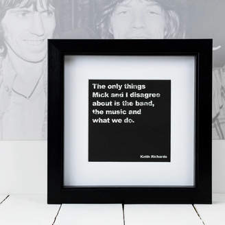 Coulson Macleod Framed Keith Richards Music Quote Print