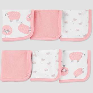 Carter's Just One You made by carter Baby Girls' Sheep Washcloth Set - Just One You® made by Pink