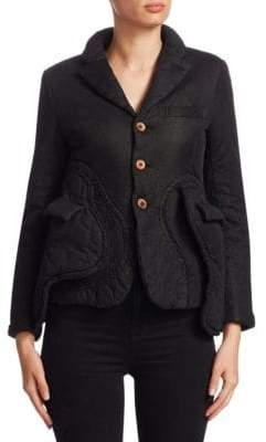 Comme des Garcons Padded Button-Front Jacket