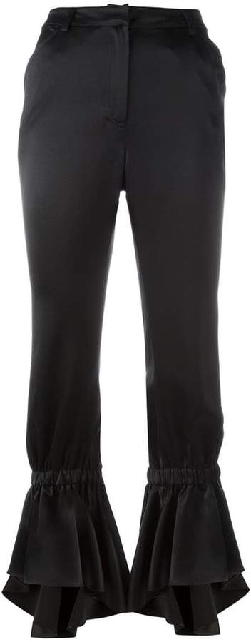 Area flared trousers