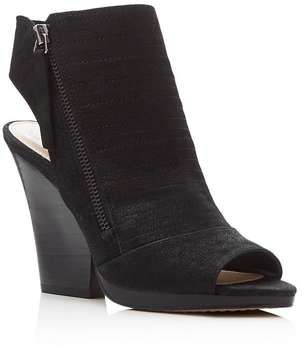 VINCE CAMUTO Javette Peep Toe Slingback Booties