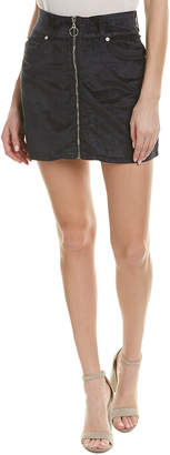 7 For All Mankind Seven 7 Zip Front Mini Skirt