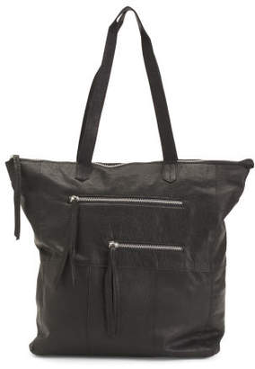 Leather Heather Tote