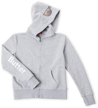 Butter Shoes Girls 7-16) NYC Embellished Zip Hoodie