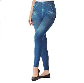 ONLINE High Waisted Stretchy Booty Shaper Denim Legging For Women