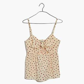 J.Crew Madewell tie-front keyhole cami top in fresh strawberries