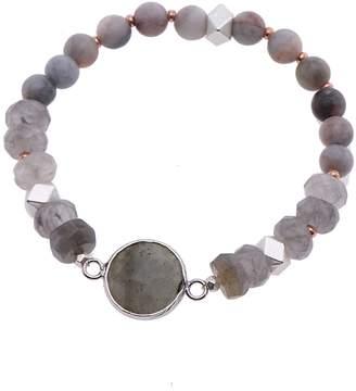Nakamol Design Faceted Stone Stretch Bracelet
