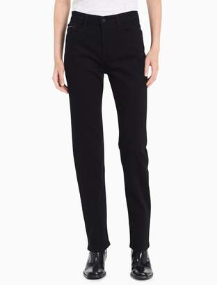 Calvin Klein straight leg high rise black jeans