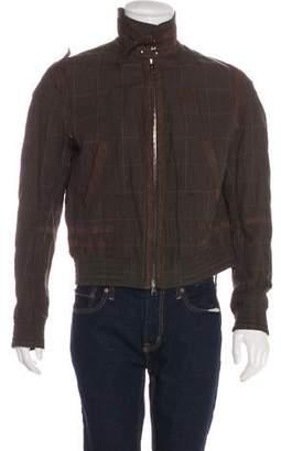 Neil Barrett Leather-Trimmed Bomber Jacket