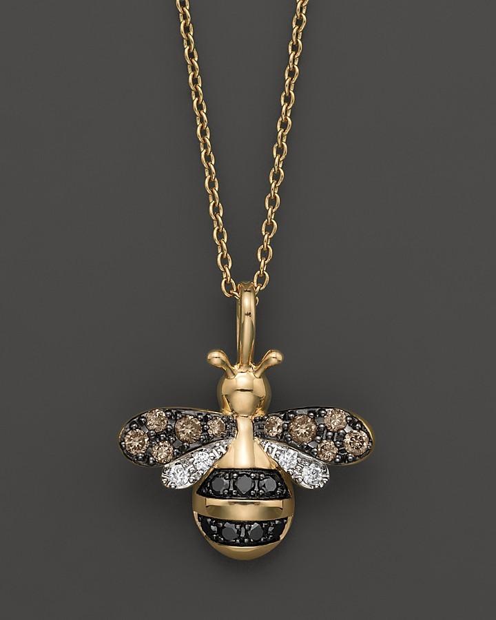 Bloomingdale's Diamond Bumble Bee Pendant Set In 14K Yellow Gold, 0.20 ct. t.w.