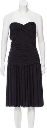OMO Norma Kamali Ruched Strapless Dress