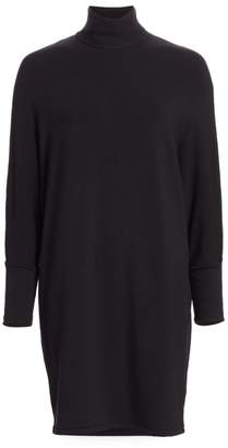 Majestic Filatures Relax-Fit French Terry Turtleneck Dress