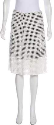 Victoria Beckham Embroidered Pencil Skirt
