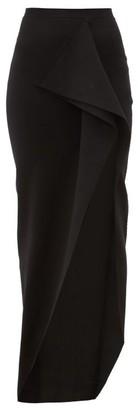 Rick Owens Grace Slit Stretch Jersey Skirt - Womens - Black