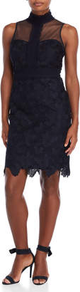 Nanette Lepore Nanette Embroidered Lace Sheath Dress
