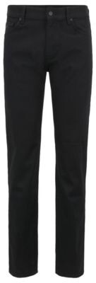 BOSS Regular-fit jeans in black-black stretch denim