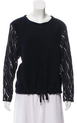 See by Chloe Long Sleeve Ribbed Knit Top