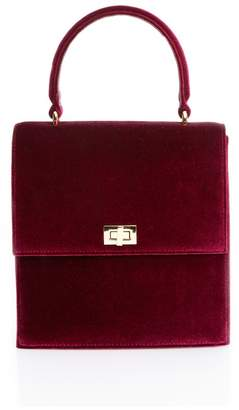Neely & Chloe Neely Chloe Lady Bag In Red Velvet