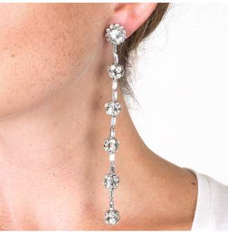 Kenneth Jay Lane Crystal Fireball Clip Earrings