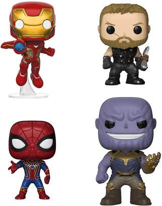 Iron Man Funko Pop Marvel Avengers Infinity War Collectors Set 1 Iron Man, Thor, Iron Spider And Thanos