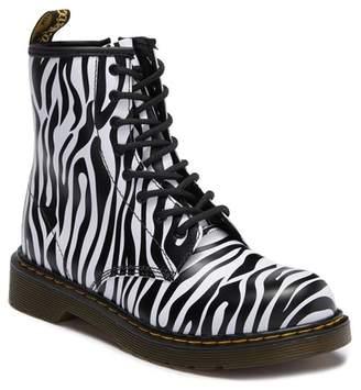 Dr. Martens Delaney Zebra Print Boot (Big Kid)