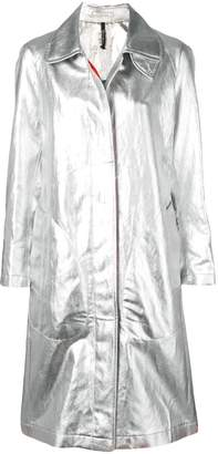 Santoni metallic trench coat
