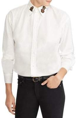 Polo Ralph Lauren Embellished Relaxed Fit Shirt