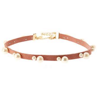 Natasha Accessories Womens White Simulated Pearl Choker Necklace