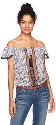 Jolt Women's Lace Knit Off The Shoulder Top