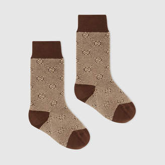 Gucci Children's cotton wool GG socks