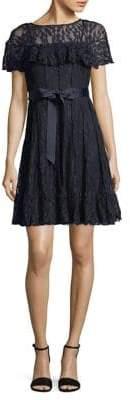 Eliza J Pintuck Lace Dress