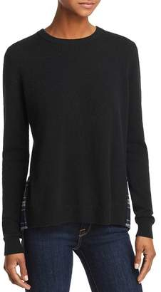 Aqua Plaid-Hem Sweater - 100% Exclusive