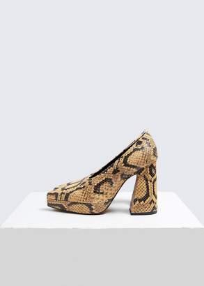 Proenza Schouler Snakeskin Platform Heel