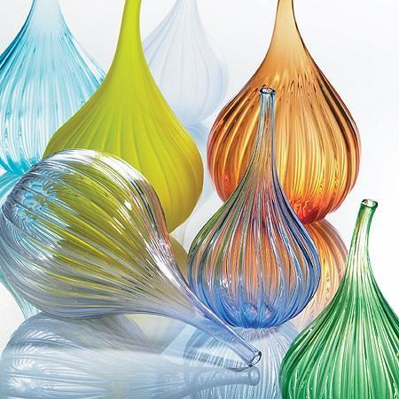 Salviati -drops glass vases by salviati of italy