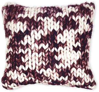 Sparrow & Wren Burgundy Chunky Knit Pillow